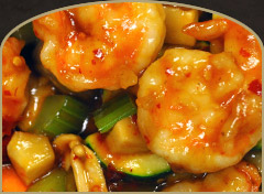Delicious chinese shrimp dish